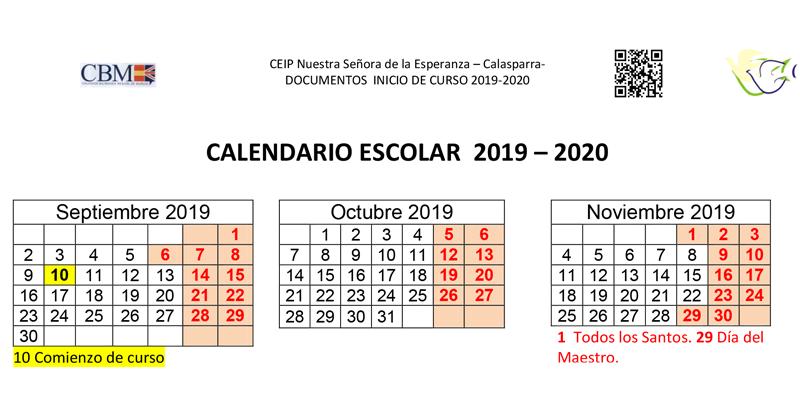 Calendario Belen 2020.Calendario Ceip Ntra Sra De La Esperanza