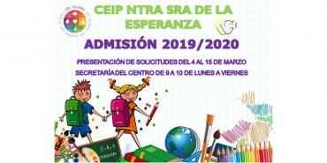 Abierto el plazo de matrícula para el curso 2019/20