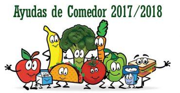 Ayudas de comedor para el curso 2017/2018