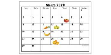 Calendario de frutas y hortalizas para marzo