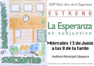 """Mañana miércoles, estreno de """"La Esperanza en Subjuntivo"""""""