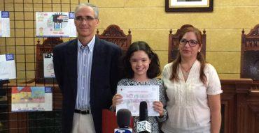 Alicia Sánchez, de 5ºA, ganadora del concurso «Crece en seguridad»