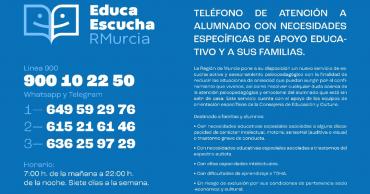 Teléfono de atención a alumnado con necesidades y a sus familias
