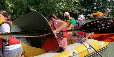 Piragüismo, rafting y baño en el río Segura