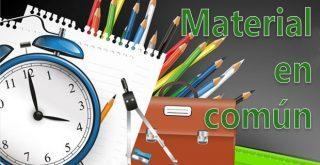 Números de cuenta y cantidades a ingresar para el material en común