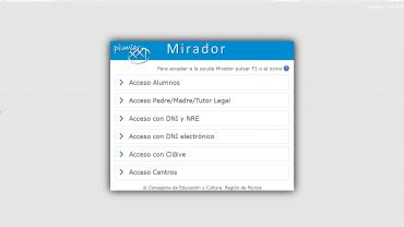 Acceso a la plataforma Mirador