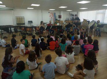 Los alumnos de 1º y 2º visitan la escuela de Música