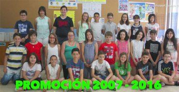 Graduación de los alumnos de sexto