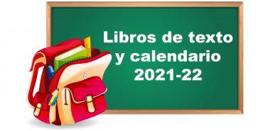 Libros de texto y calendario escolar para el curso 2021-2022