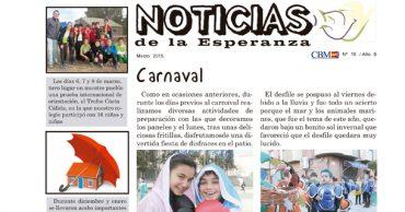 """Disponible el número de marzo de """"Noticias de la Esperanza"""""""