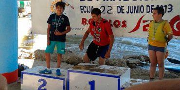 Pepe Moya, segundo clasificado en Campeonato de Andalucía de piragüísmo