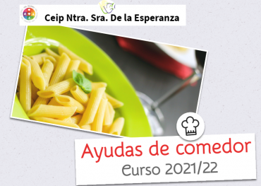 Ayudas de comedor escolar. Curso 2021/22